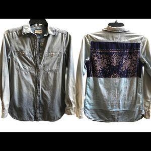 Denim & Supply Ralph Lauren women's jean shirt XS
